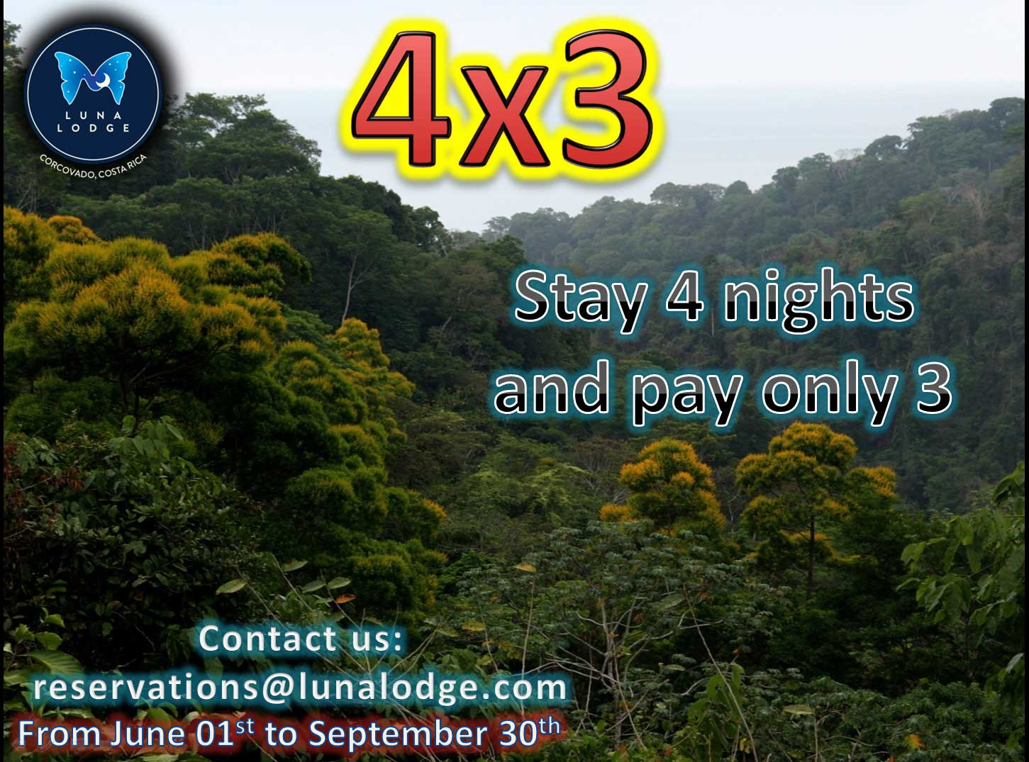 4x3 Promotion - Stay 4 days, pay for only 3